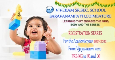 REGISTRATION STARTS FOR ACADEMIC YEAR 2021-22